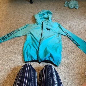 Pink VS jacket/windbreaker